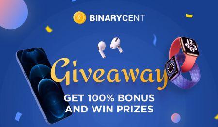 Promoción de depósito de Binarycent: hasta un 100% de bonificación